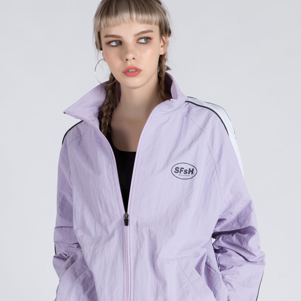 WIND-BREAK TRACK JUMPER (SAF3TR01) (PURPLE)