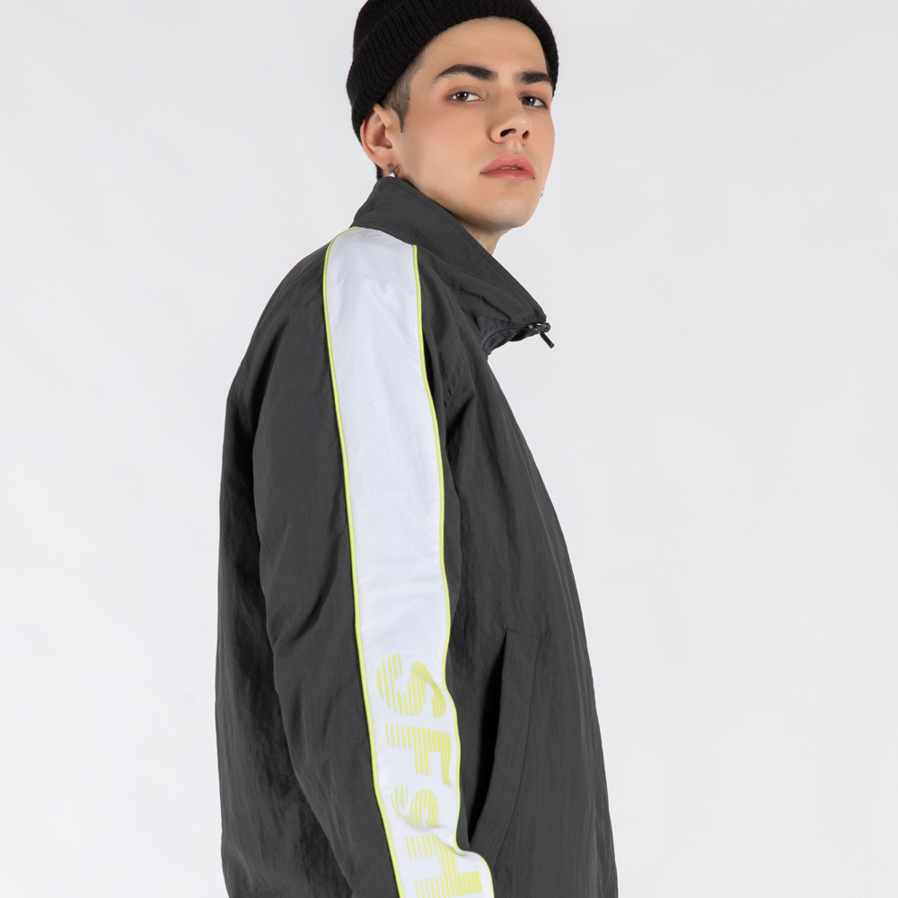 WIND-BREAK TRACK JUMPER (SAF3TR01) (GREY)