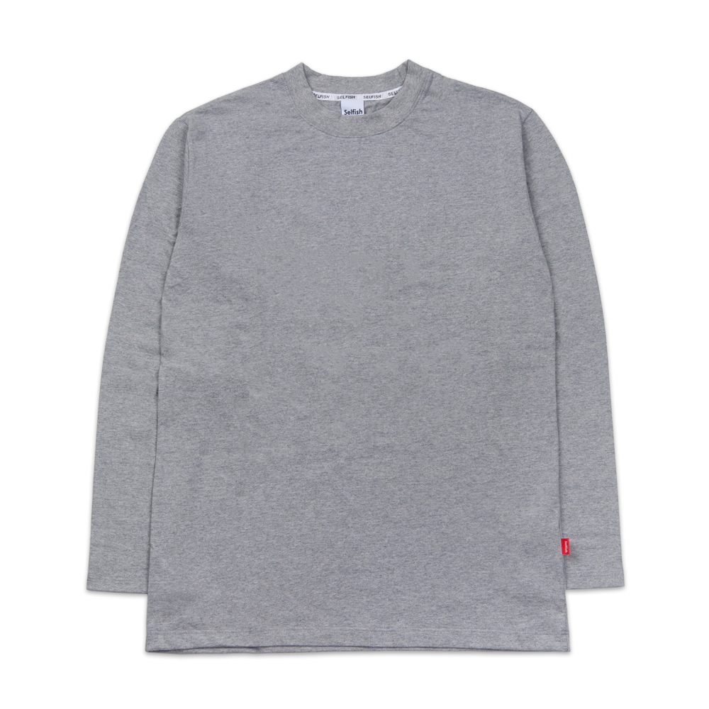 BASIC LONG SLEEVE (SAF3TS04) (MELANGE GREY)