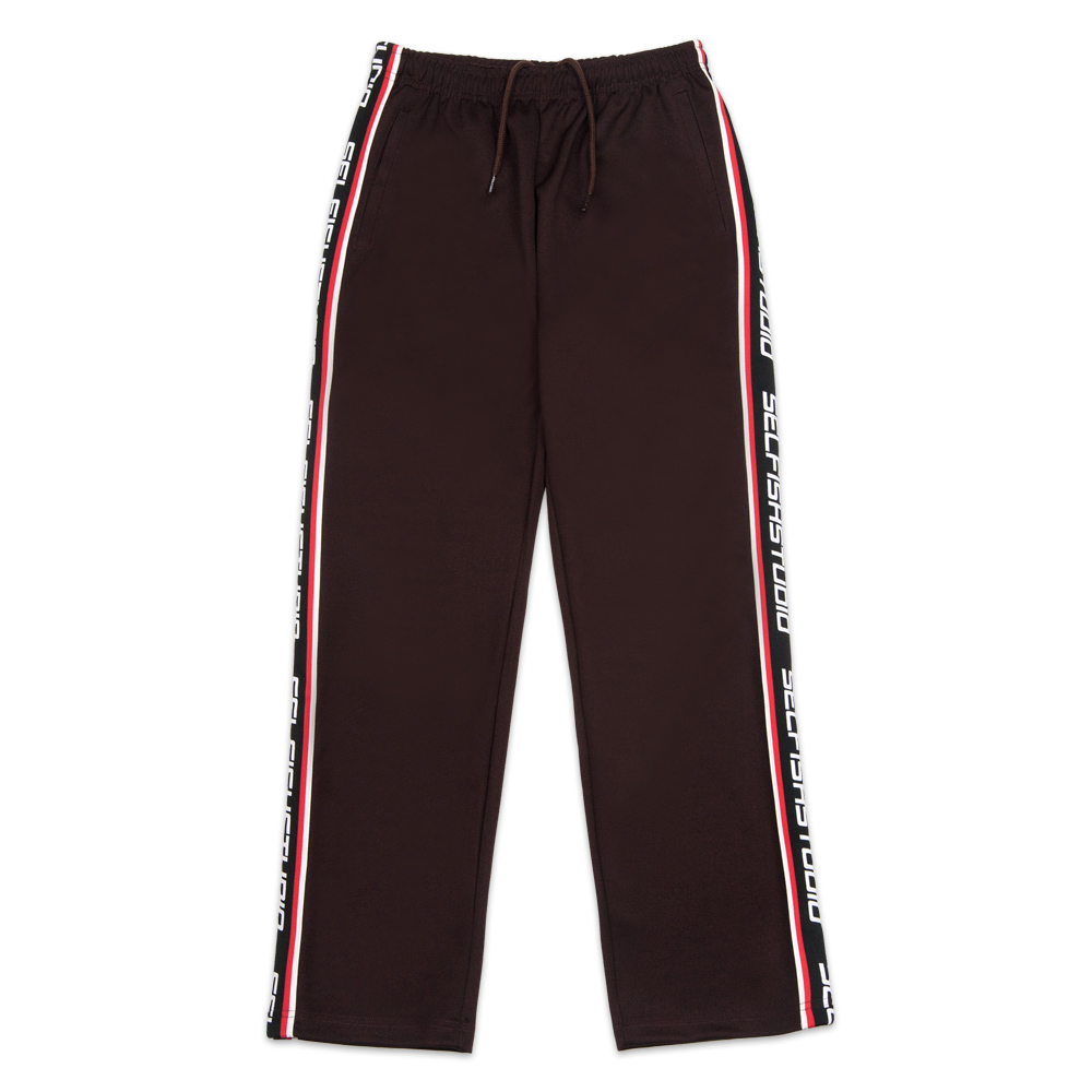 LOGO TAPE TRACK PANTS (SAF3TR04) (BROWN)