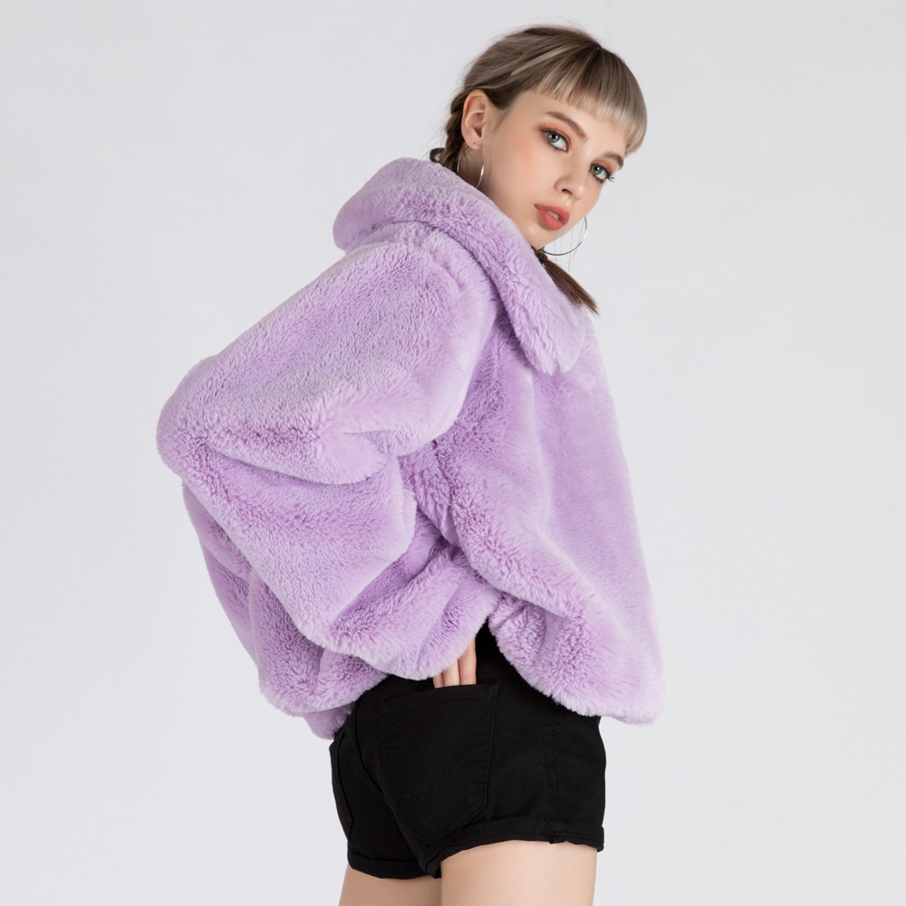 VALEMOUNT MINK JACKET (SAW2JK01) (LIGHT PURPLE)