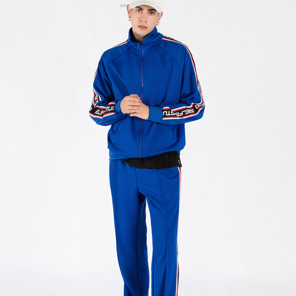 LOGO TAPE TRACK SUIT SET (BLUE)